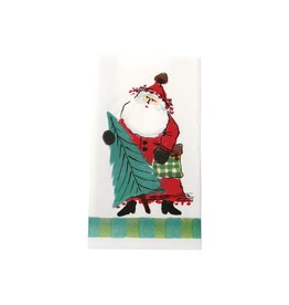 Vietri Old St. Nick Guest Towels - Green - (Pack of 16)