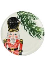 Vietri Nutcracker Salad Plate - Red