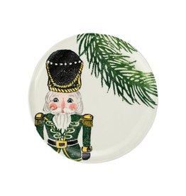 Vietri Nutcracker Salad Plate - Green
