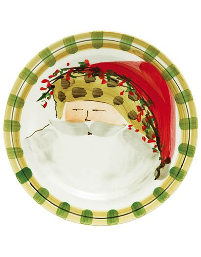 Vietri Old St. Nick Dinner Plate - Animal Hat