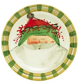 Vietri Old St. Nick Dinner Plate - Green Hat