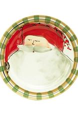 Vietri Old St. Nick Dinner Plate - Red Hat