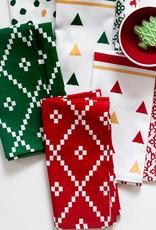 Vietri Bohemian Linens Holiday Green Napkins - Set of 4