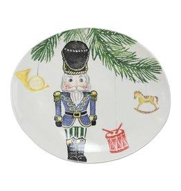 Vietri Nutcrackers Medium Oval Platter