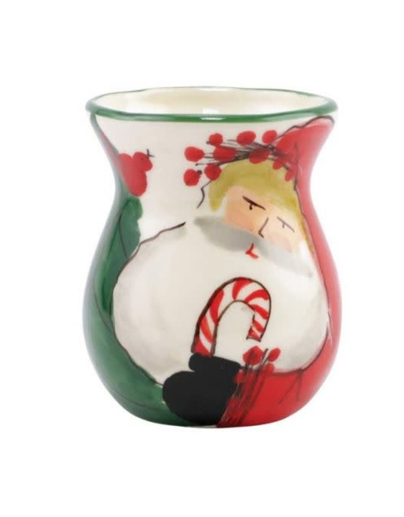Vietri Old St. Nick Bud Vase