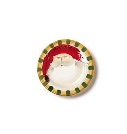 Vietri Old St. Nick Round Salad Plate - Red Hat