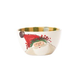 Vietri Old St. Nick Cereal Bowl - Green Hat