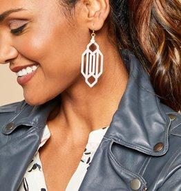 Spartina 449, LLC Art Deco Earrings Cream Resin