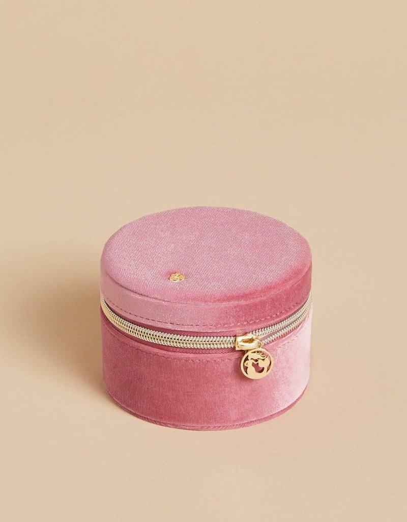 Spartina 449, LLC Round Jewelry Travel Case - Rouge Velvet