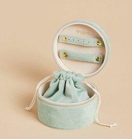 Spartina 449, LLC Round Jewelry Travel Case - Dusty Blue