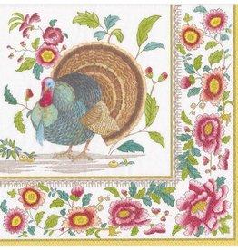 Caspari Thanksgiving Setting Paper Dinner Napkins - 20ct