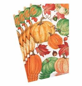 Caspari Caspari Pumpkin Field Paper Guest Towels Napkins in White - 15ct