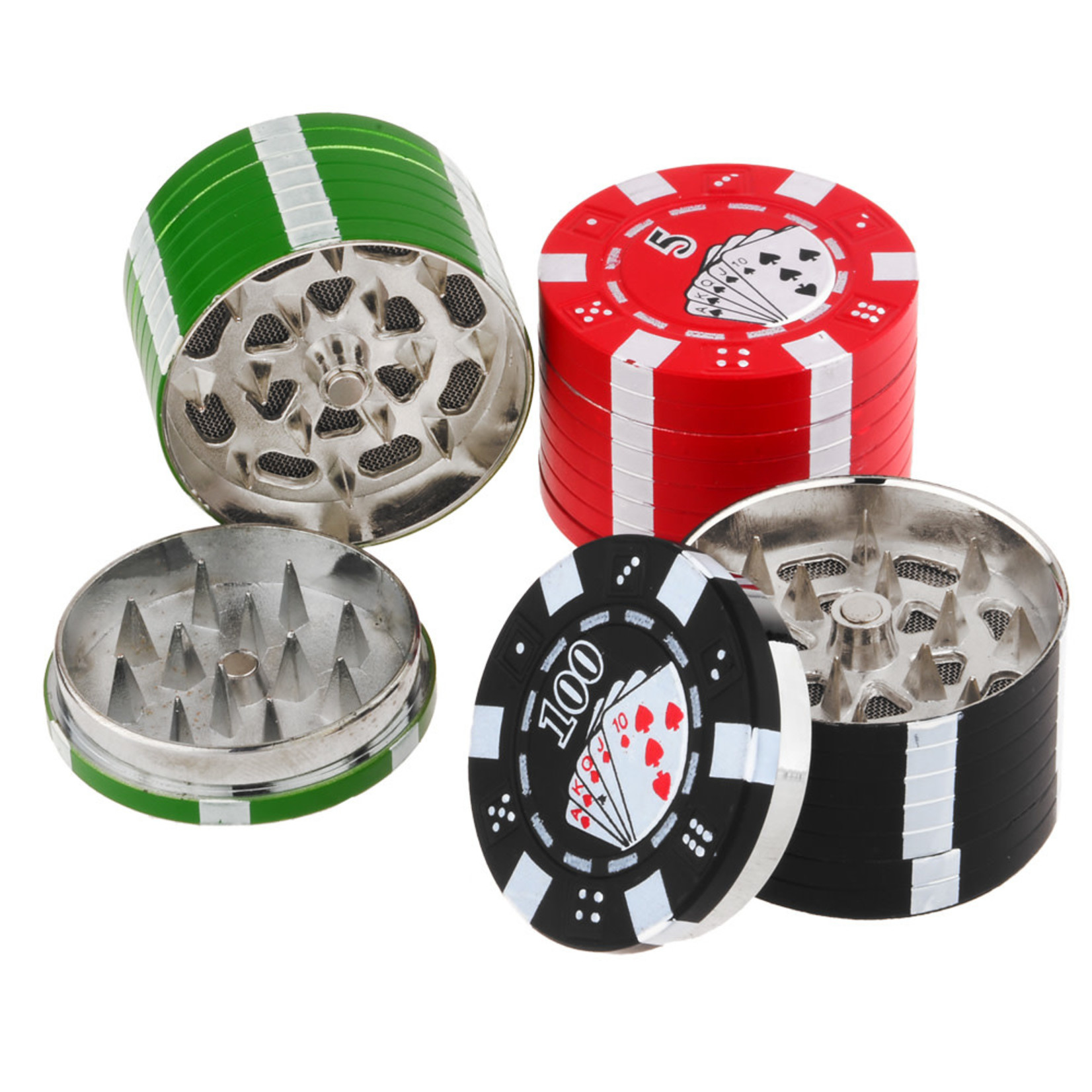 ASSORTED 3 PART POKER CHIP