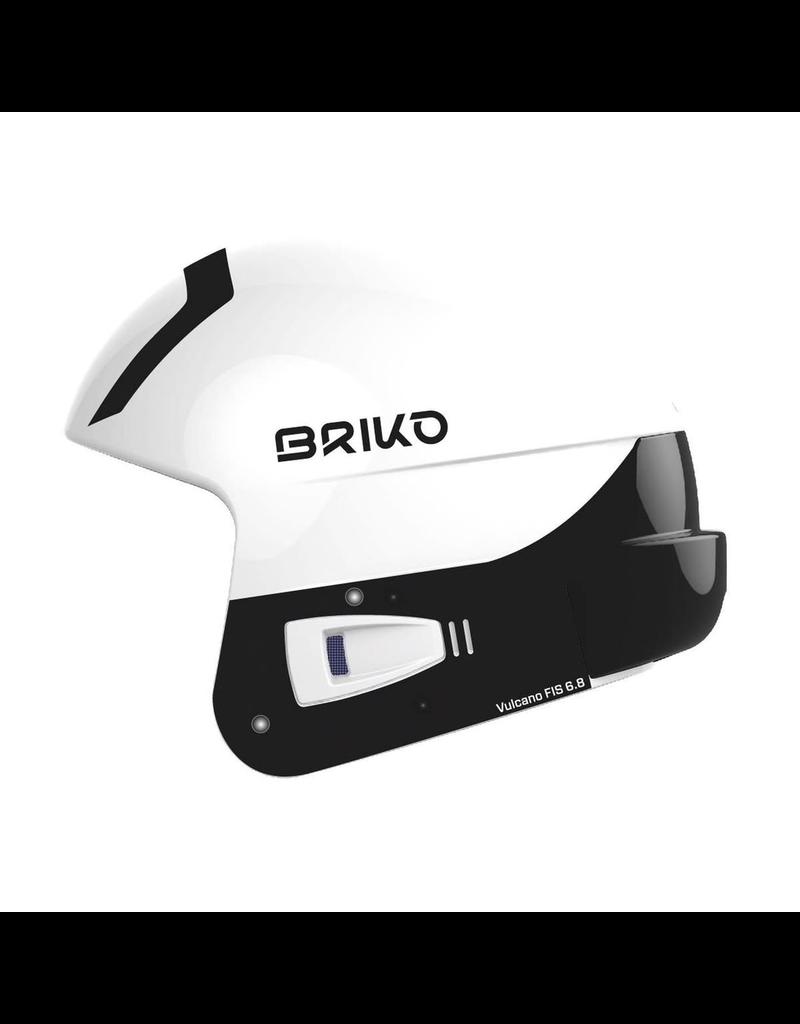 BRIKO BRIKO SKI HELMET VULCANO FIS 6.8 MULTI IMPACT SHINY WHITE BLACK