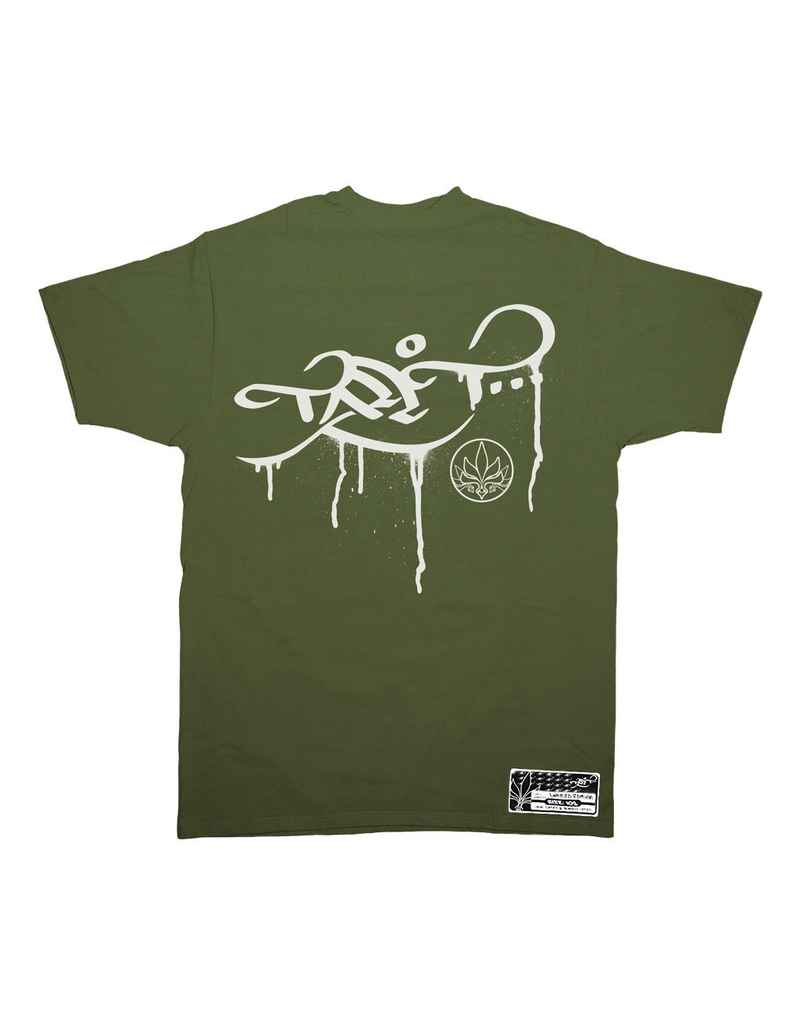 TALL T PRODUCTIONS TALL T PRODUCTION DRIP LOGO OLIVE/WHITE