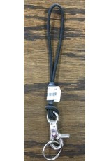 SKI KARE SNOWBOARD LEASH NYLON CORD W/ CLIP BLACK