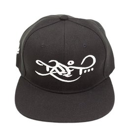 TALL T PRODUCTIONS TALL T PRODUCTION SNAPBACK HAT LOGO BLACK/WHITE