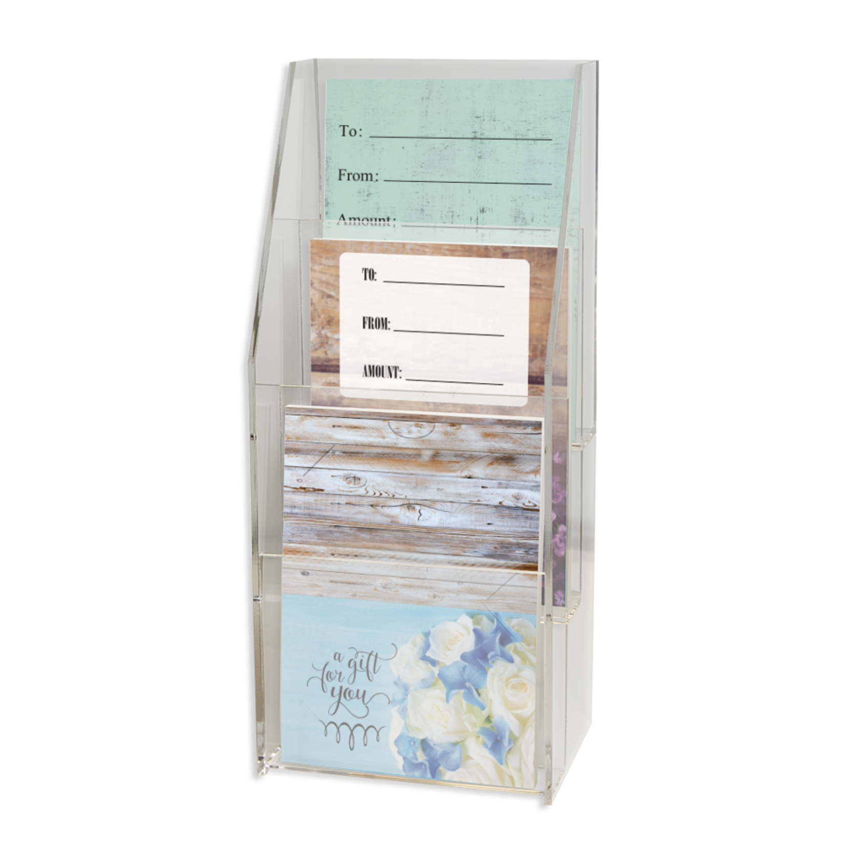 3 Tier Gift Card Holder Display Stand
