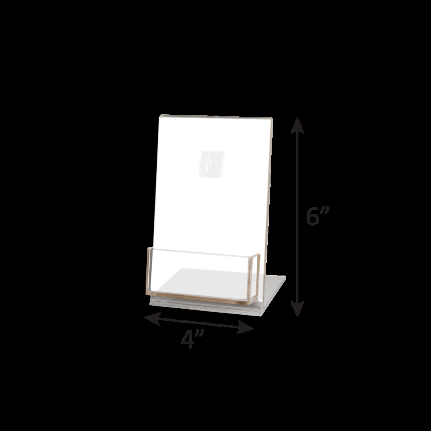 4x6 Acrylic Gift Card Display Stand