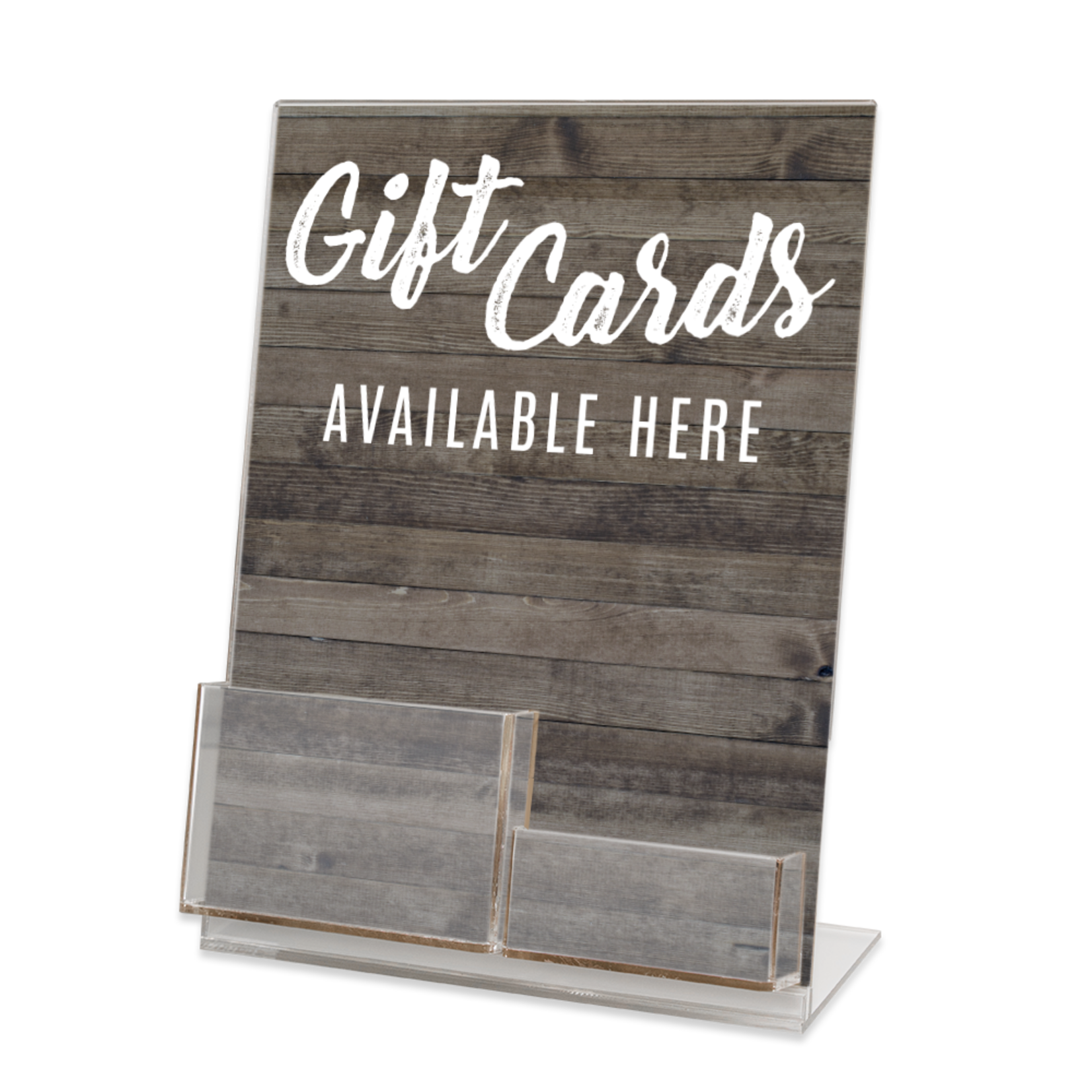 Gift Card & Gift Card Holder Acrylic Display Stand