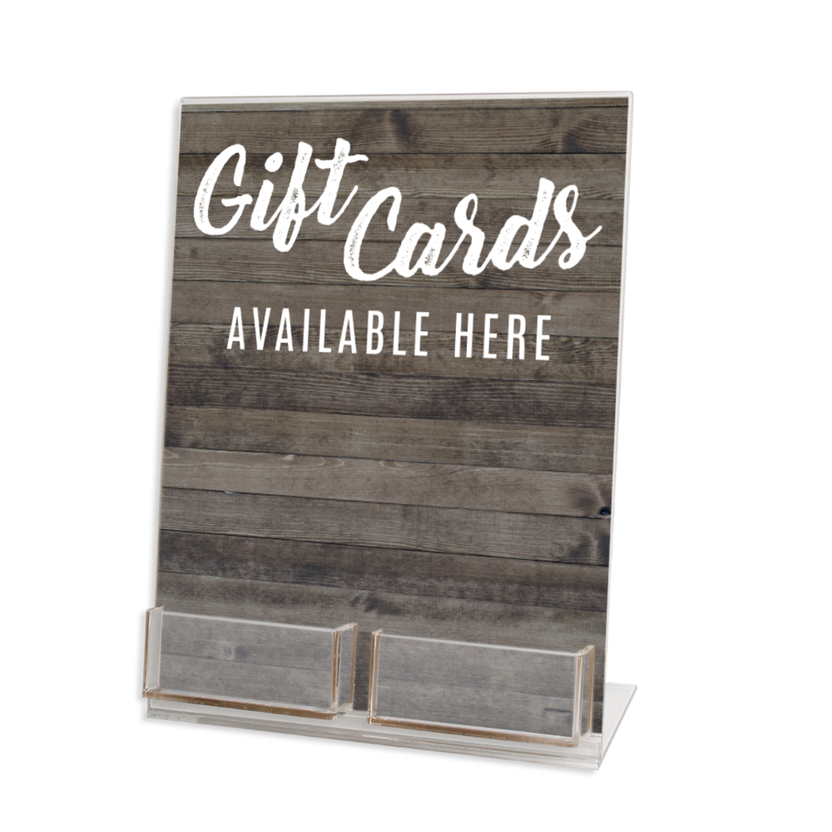 Two Gift Card Acrylic Display Stand