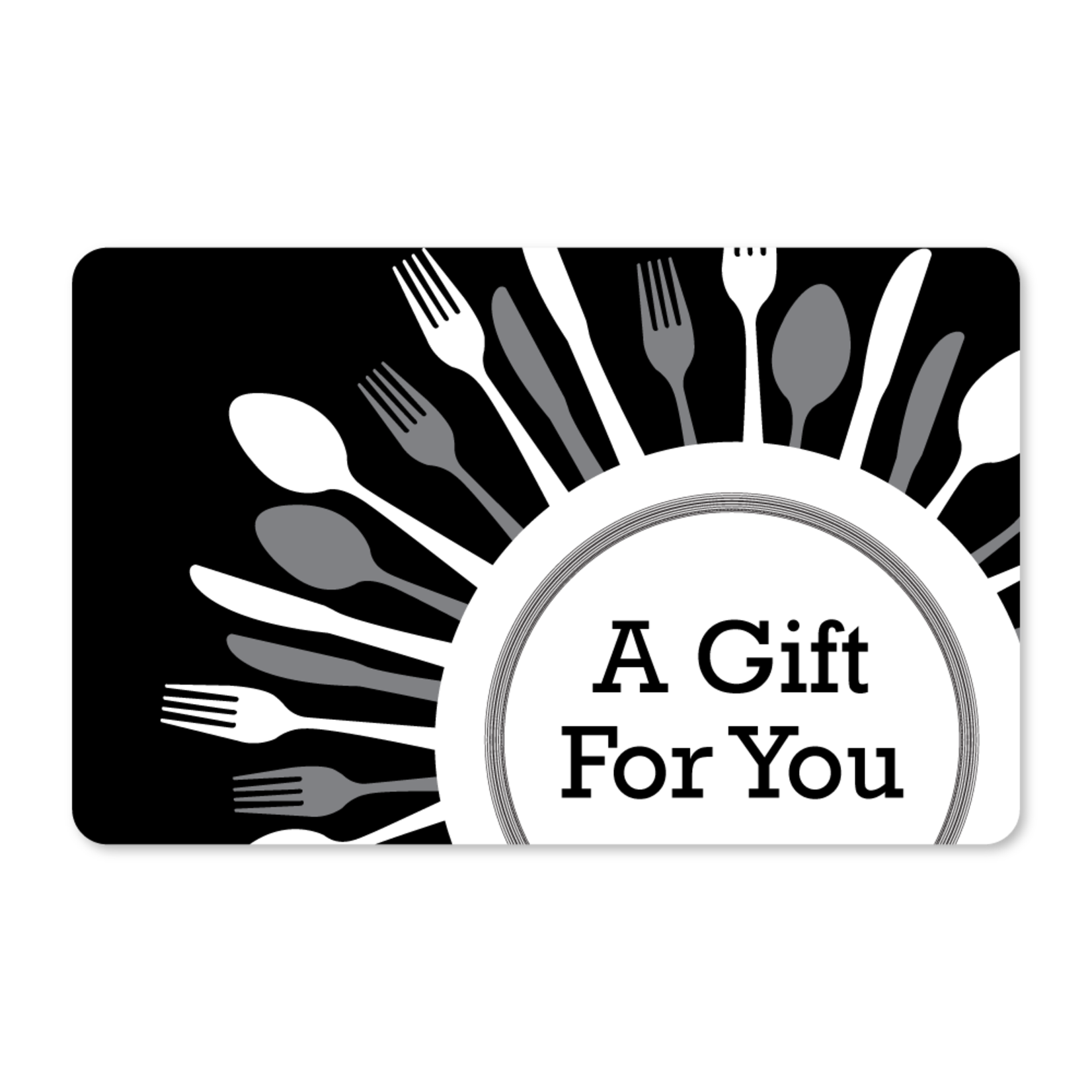 Gift Cards - Plate and Utensils