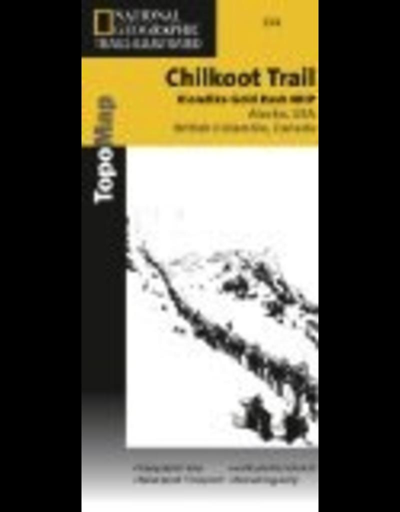 Todd Communications Map - Chilkoot Trail/Klondike Gold Rush, AK (Nat. Geo.) - National Geographic Trails Ill