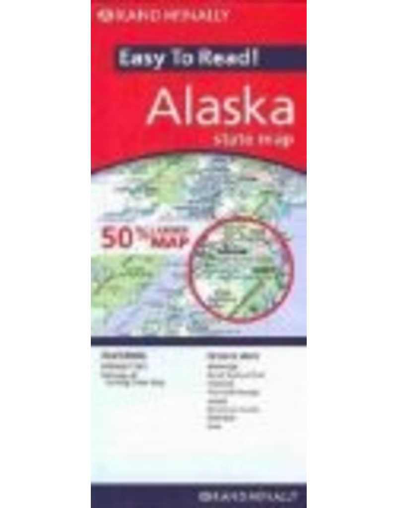 Todd Communications Map - Rand Mcnally Easy to Read Alaska State Map - Rand McNally
