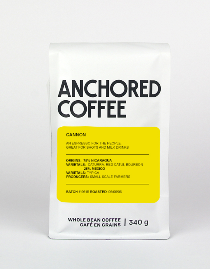 Anchored Coffee. Cannon Espresso 12oz