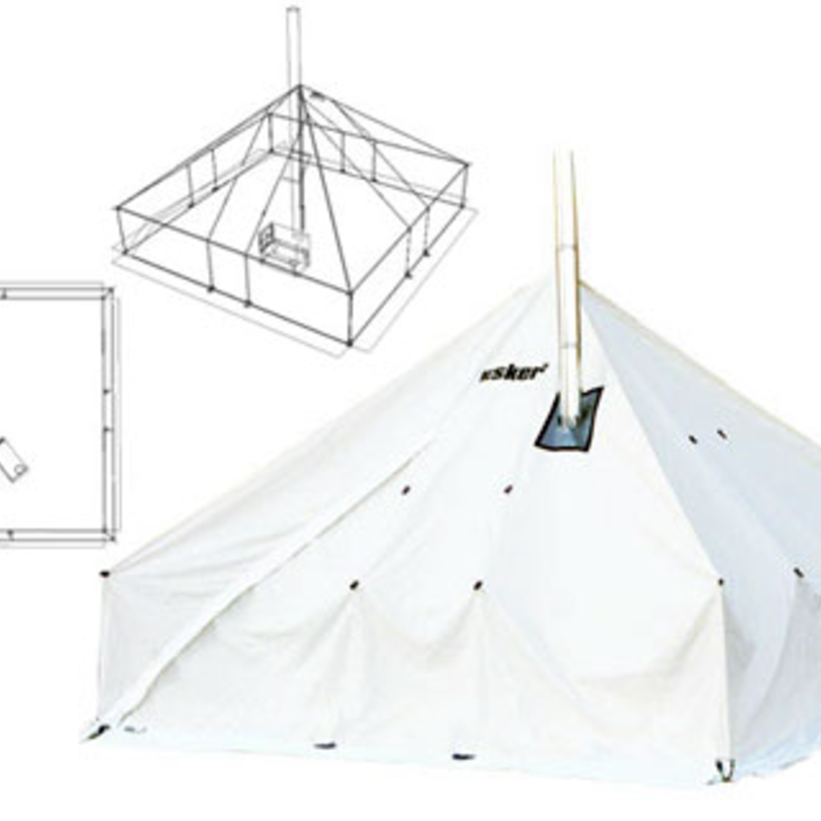 Esker Classic Winter Tent - 12X12