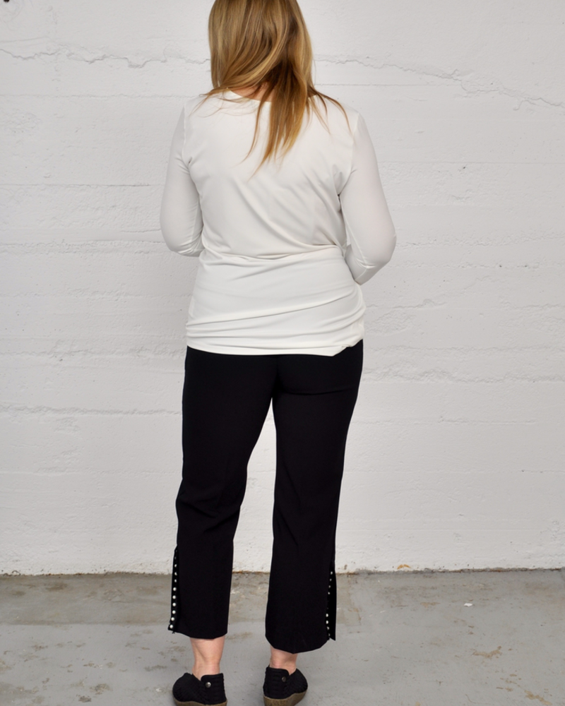 LISETTE LISETTE PANT VICTORIA STRETCH 26'' BLACK WITH PEARL