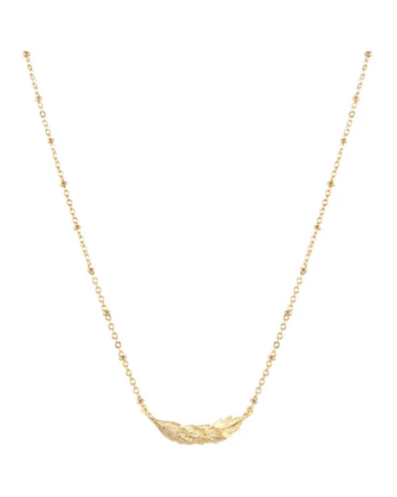 LOST & FAUNE LOST & FAUNE COLLIER COURONNE FEUILLES OR