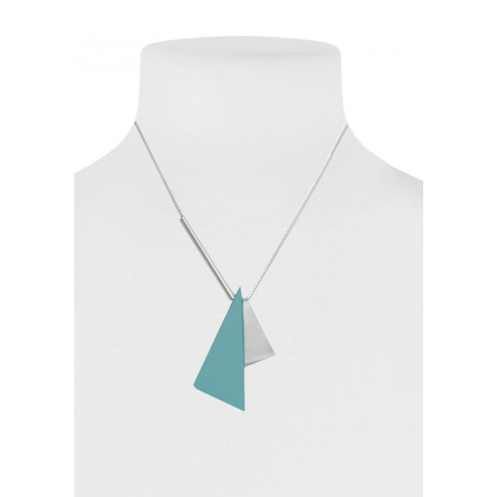 CARACOL CARACOL SHORT NECKLACE 2 TRIANGLES TEA