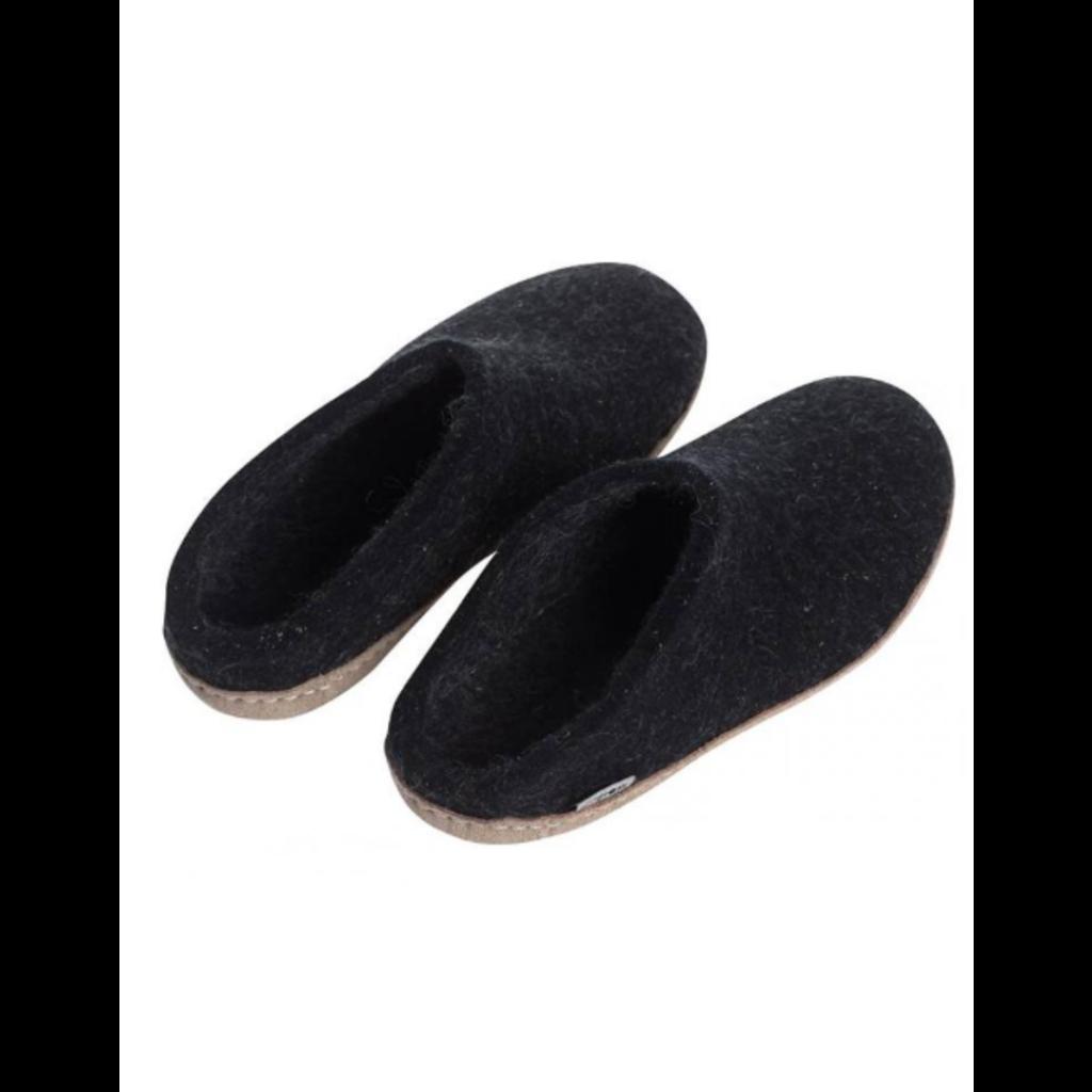 GLERUPS GLERUP PANTOUFLE / SHOE CHARCOAL / BLACK