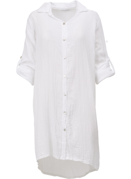 M MADE IN ITALY M MADE IN ITALY ROBE CHEMISIER COTON BLANC