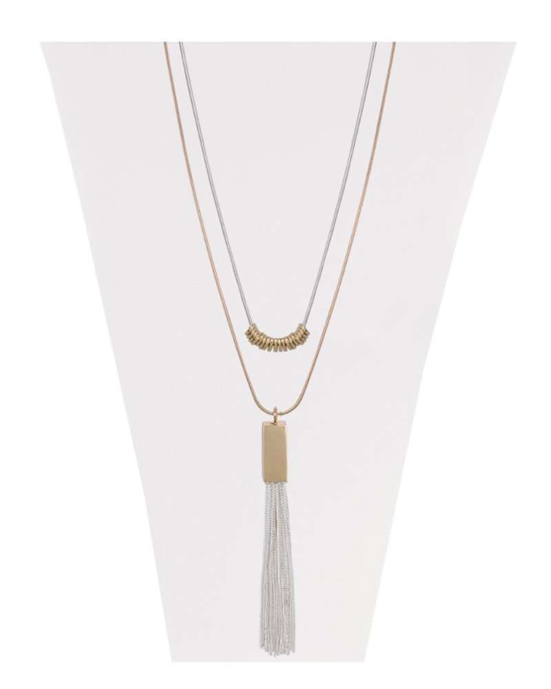 CARACOL CARACOL LONG NECKLACE 2 LEVEL MIX
