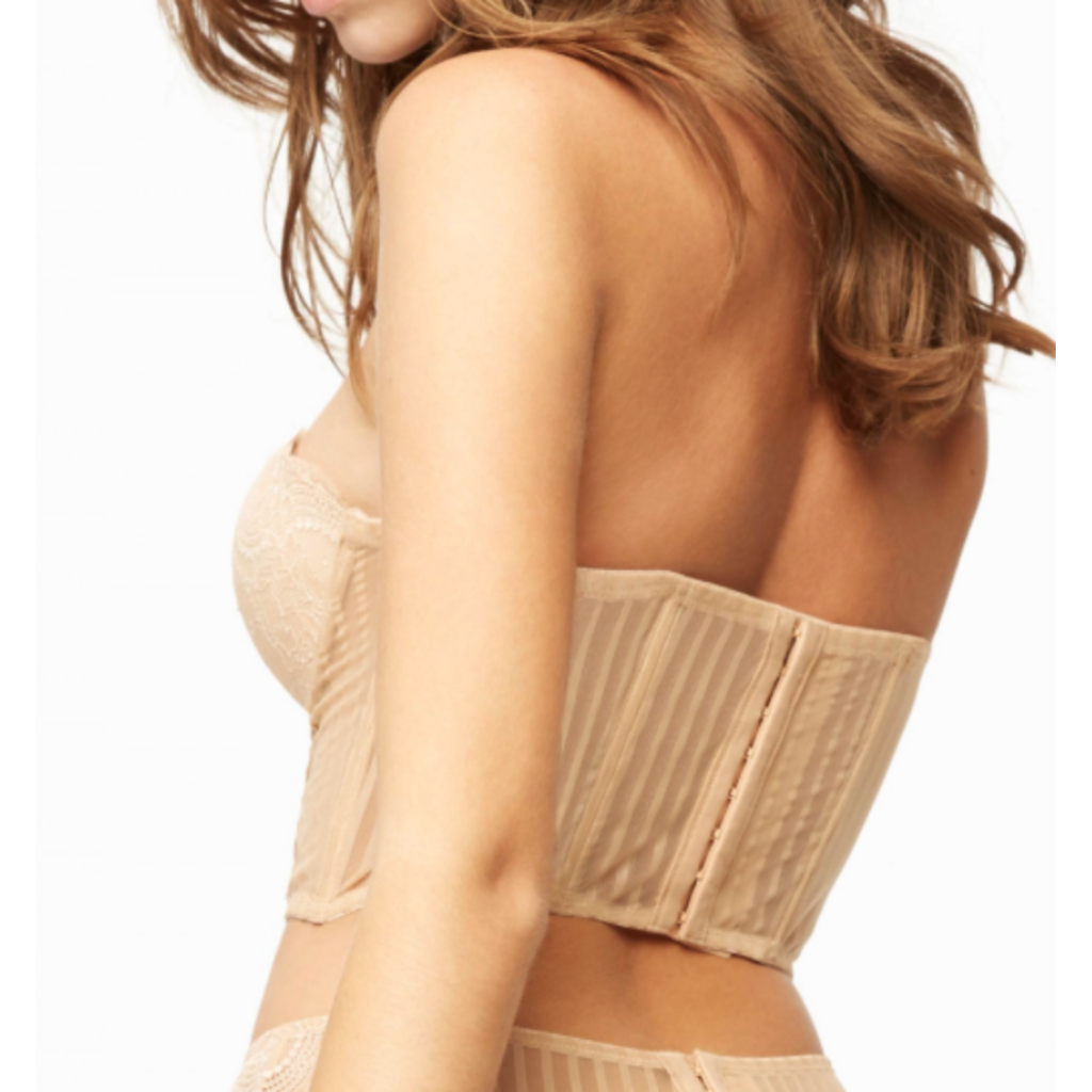 BLUSH ALMOND REMOVABLE BREASTS BRASSIERE