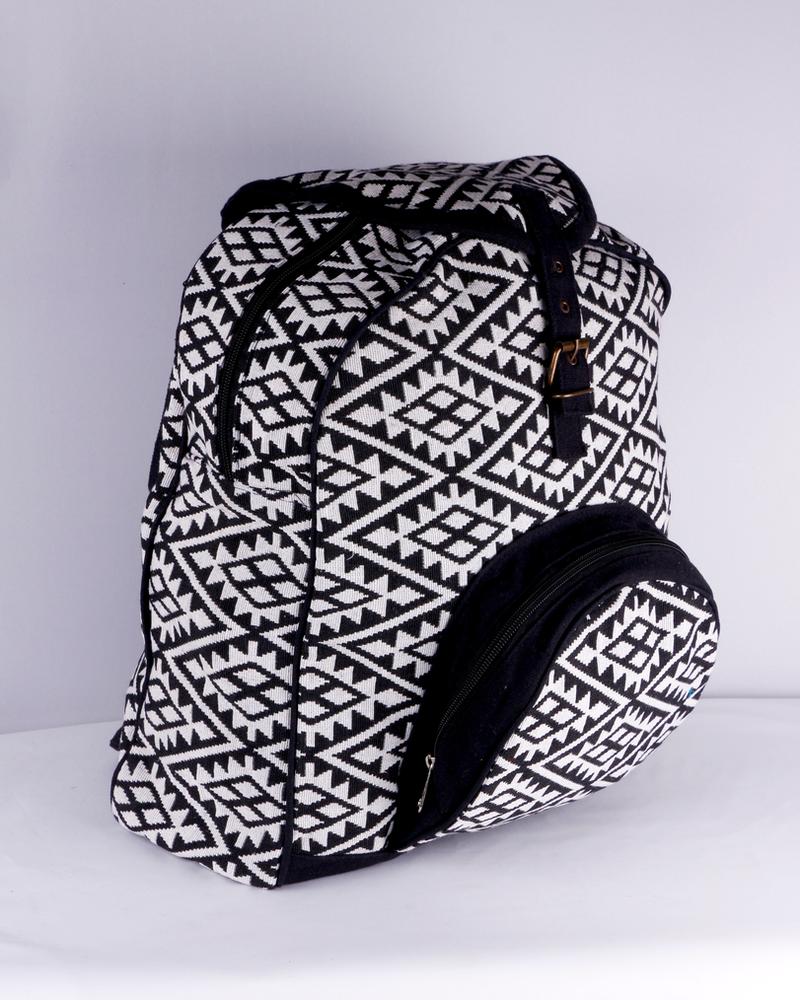 SHANTI HANDLOOM SHANTI BLACK BAG BACKPACK ANKARA 192