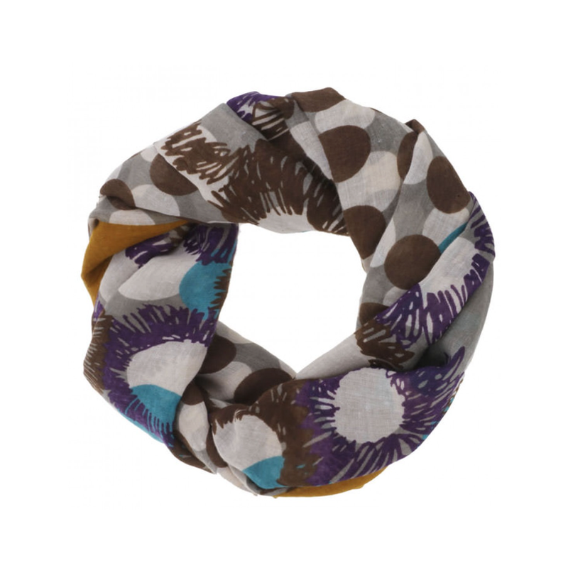 CARACOL CARACOL FOULARD FESTIVAL MOUTARDE