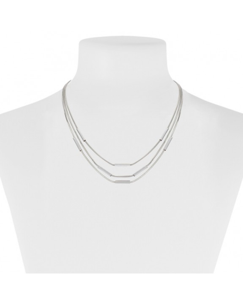 CARACOL CARACOL COLLIER COURT 3 RANGS BLANC