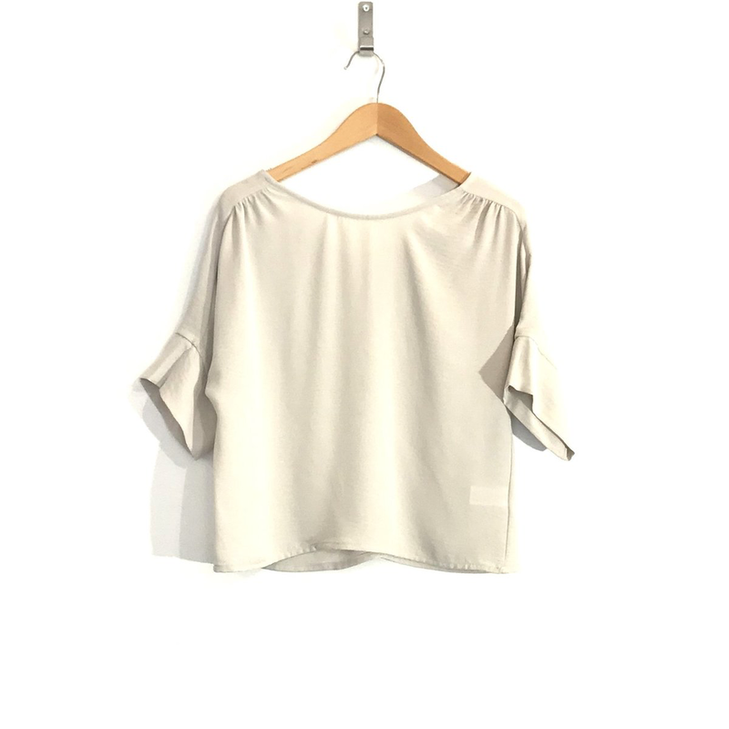 DAGG AND STACEY DAGG AND STACEY BLOUSE CASEY CHAMPAGNE