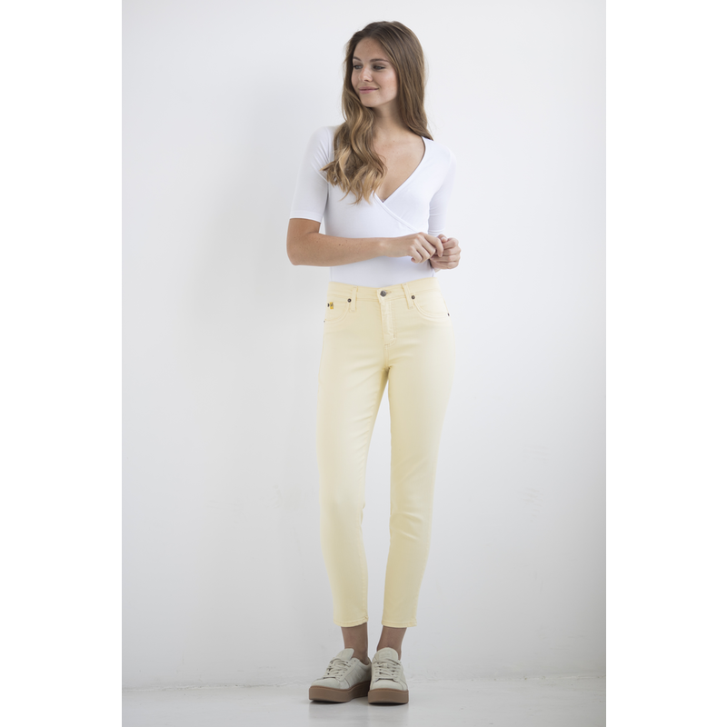 YOGA JEANS JEANS HIGH RISE ANKLE SUNSHELL/JAUNE