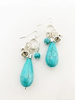 CARACOL CARACOL B. OREILLE GRAPPE GOUTTE CRISTAL TURQUOISE