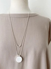 CARACOL CARACOL LONG COLLIER AJUST PENDENTIF COQUILLAGE BLANC ARG