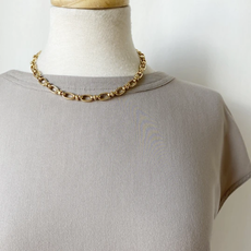CARACOL CARACOL COLLIER SIMPLE MAXI MAILLES DORE