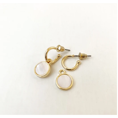 CARACOL CARACOL PETITE BOUCLE OREILLE COQUILLAGE DORE