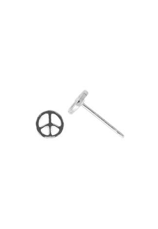 BOMA STERLING SILVER PEACE SIGN STUD EARRINGS
