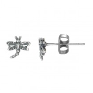 BOMA STERLING SILVER DRAGONFLY STUD  EARRINGS