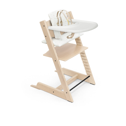 STOKKE TRIPP TRAPP HIGH CHAIR COMPLETE IN NATURAL/ICON GREY
