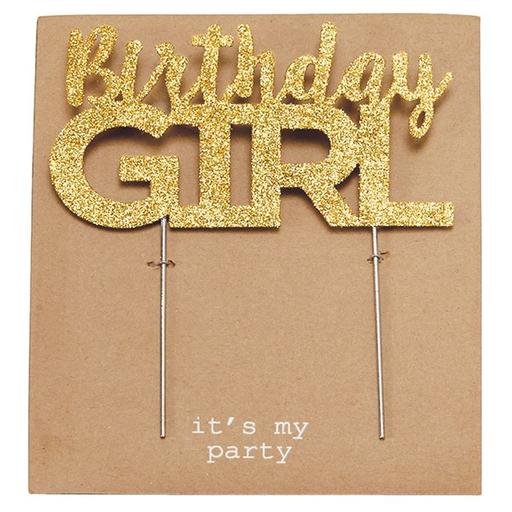 MUD PIE BIRTHDAY GIRL CAKE TOPPER